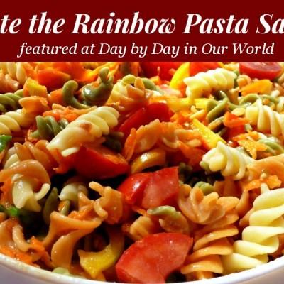 Taste the Rainbow Pasta Salad