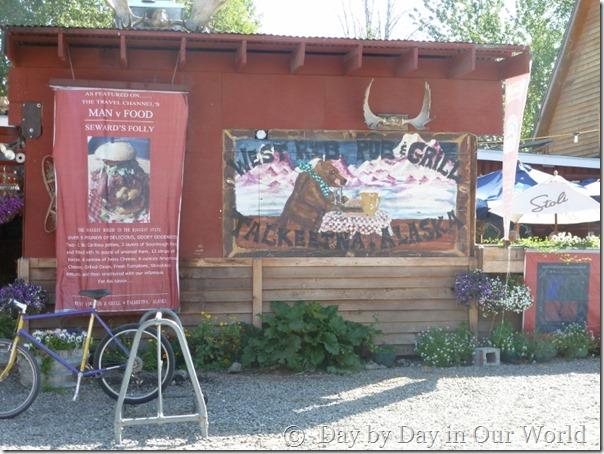Exterior of West Rib Pub and Grill Talkeetna Alaska