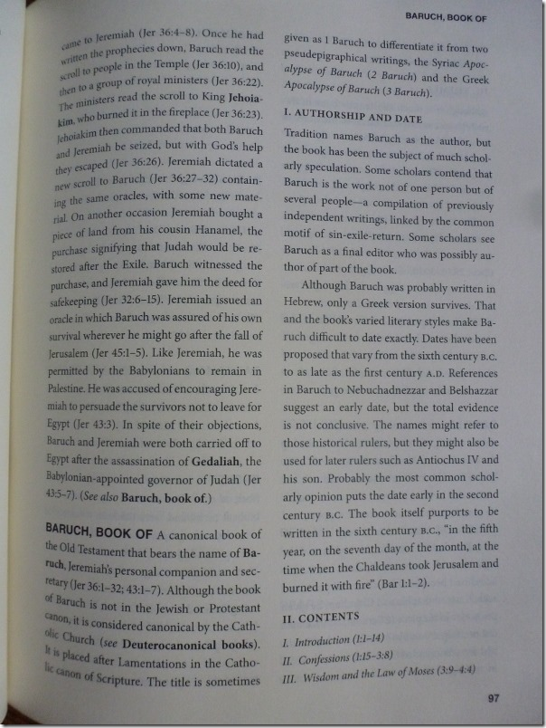 Example Page of Catholic Bible Dictionary #review