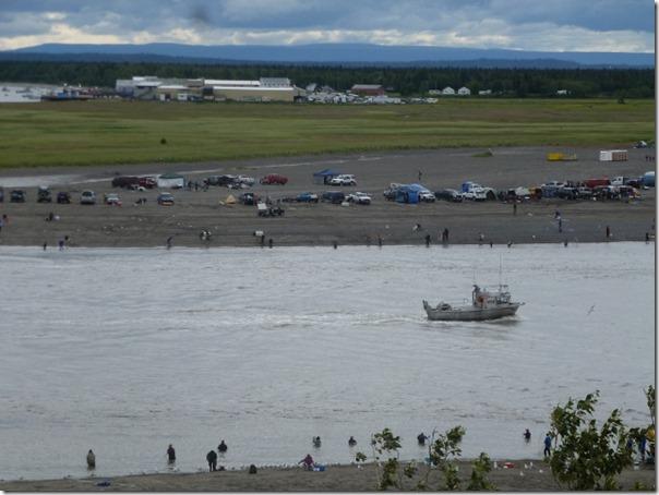 Watching Dip Netters and Commercial Fishermen Kenai River Alaska