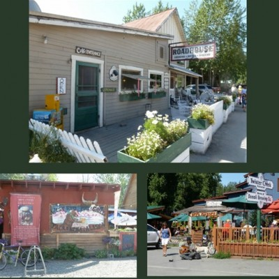Enjoying Lunch at the Talkeetna Roadhouse