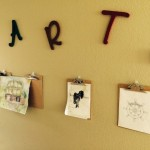 Neatly Display Childrens Art Work (Pinterest Inspired)