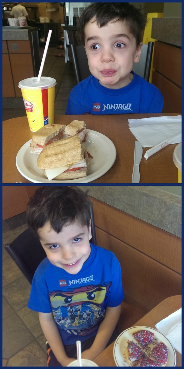 Lunch at Tim Hortons in western New York #WalgreensPaperless
