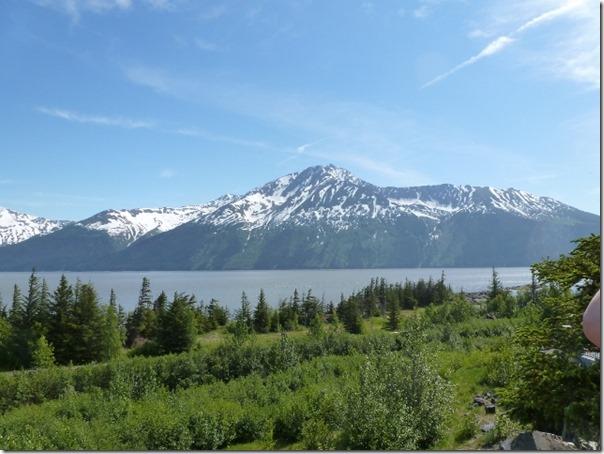 Looking across Turnagain Arm from Bird Point Alaska
