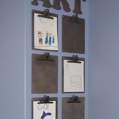 Pinterest Inspiration for Art Work Display