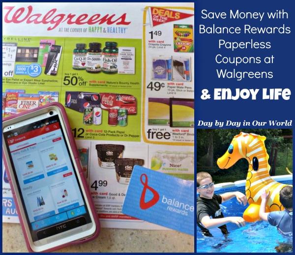 Save Money with Balance Rewards Paperless Coupons at Walgreens and Enjoy Life #WalgreensPaperless