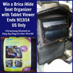 Win a Brica iHide Seat Organizer with Tablet Viewer Giveaway US Only