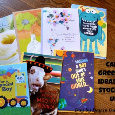 Card Greeting Ideas For Stocking Up