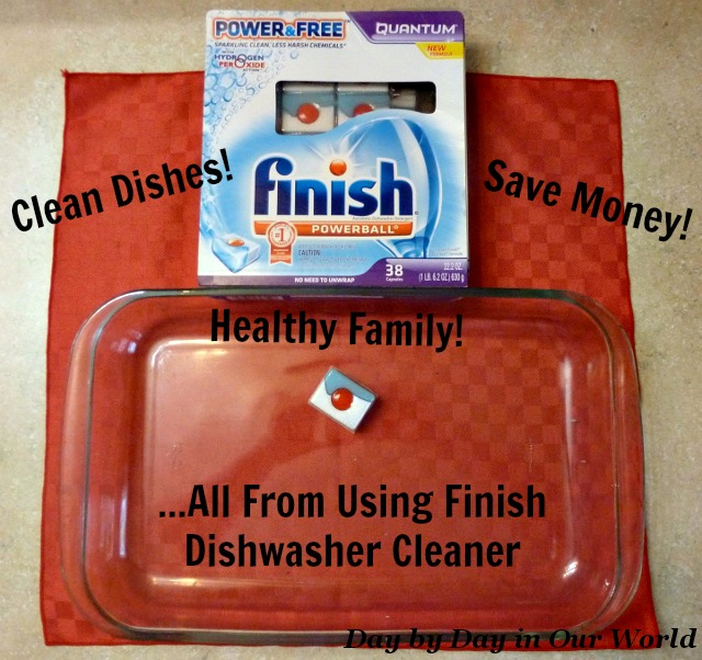 Clean Dishes, Healthy Family and Money Saved from Using Finish Dishwasher Cleaner #SparklySavings #CollectiveBias