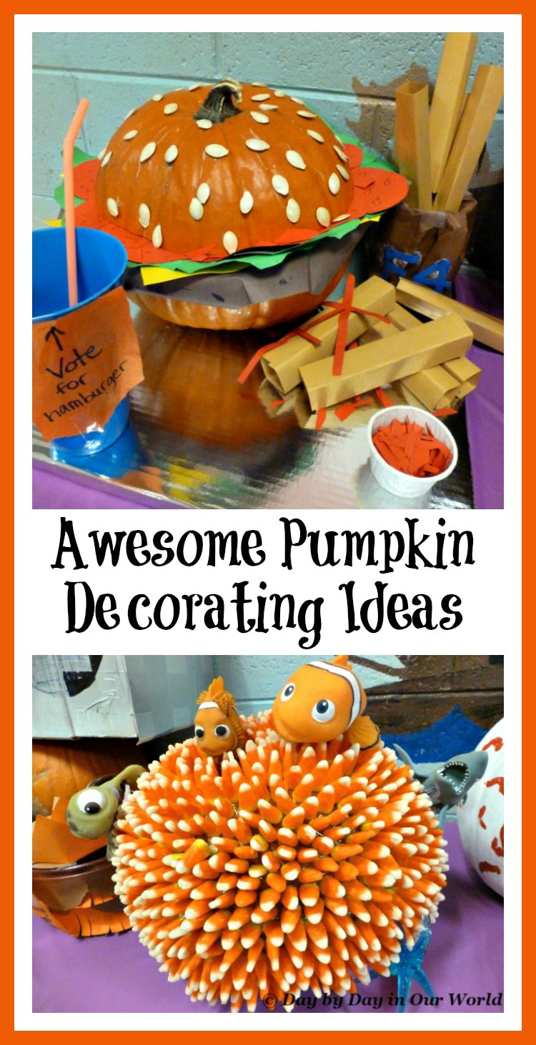 Pumpkin decorating can be fun. See some ideas created by elementary aged students with no carving required!