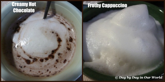Creamy Hot Chocolate and Frothy Cappuccino