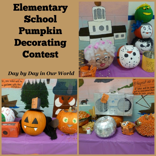 Elementary School Pumpkin Decorating Contest