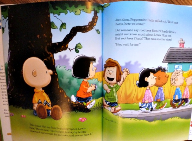 Glimpse Inside Charlie Brown Book
