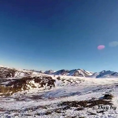 GoPro Snowy Mountain Top