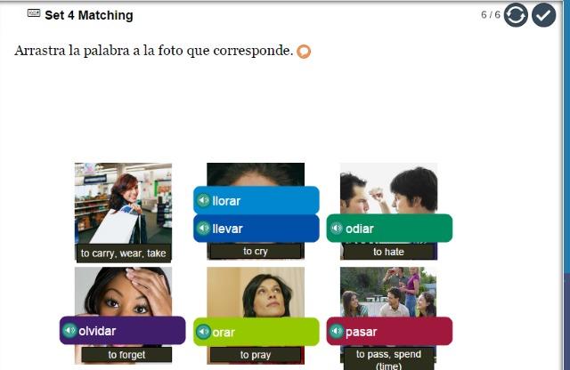 Middlebury Interactive Spanish II Matching Exercise