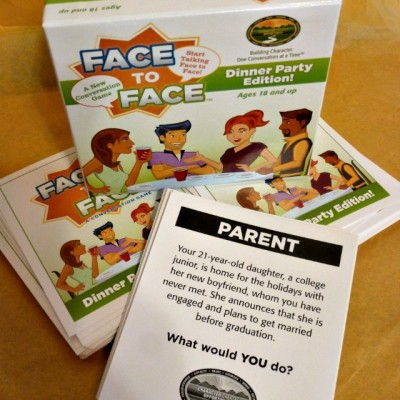 Get the Conversation Flowing with Face to Face Dinner Party Edition