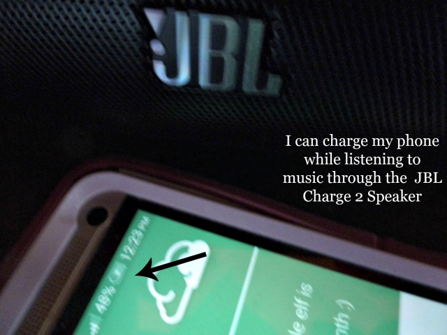 Charge your Bluetooth Device by Plugging Into the JBL Charge 2 Speaker