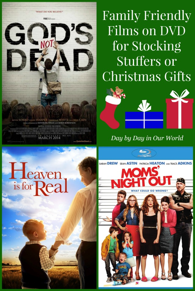 Family Friendly Films on DVD for Stocking Stuffers or Christmas Gifts