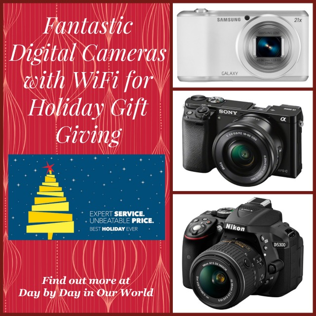 Fantastic Digital Cameras with WiFi at Best Buy for Holiday Gift Giving