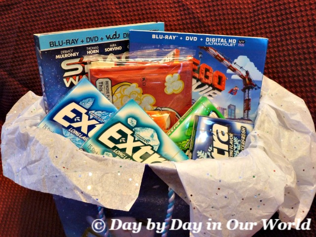Give extra with a family movie night gift bag day by