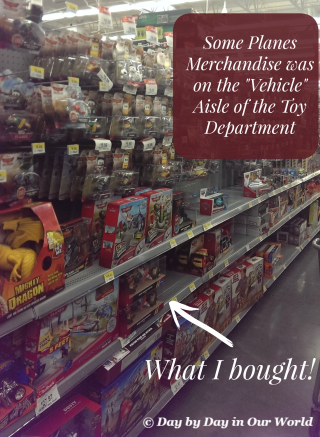 Disney Planes on the Vehicle Aisle at Walmart