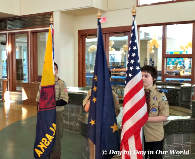 Preparing to Present the Colors