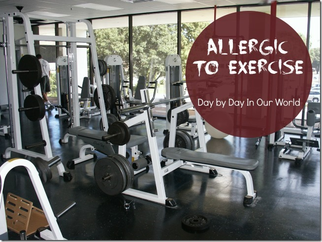 Allergic to Exercise Featured at Day by Day in Our World