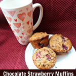 Chocolate Strawberry Muffins for Valentine's Day Breakfast