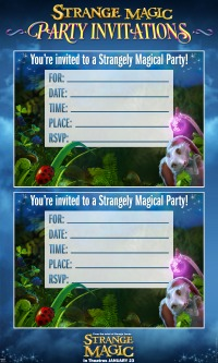 Strange Magic Party Invitations