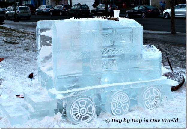 Alaska Train Engine Made from Ice