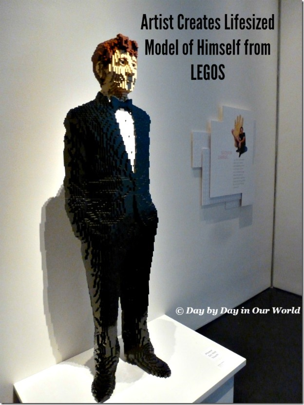 Artist Creates Lifesized Model of Himself from LEGOS