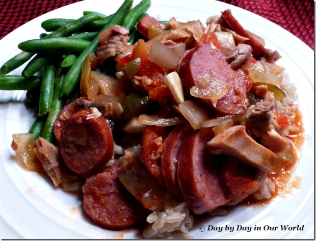 Quick and Easy Chicken and Sausage Jambalaya