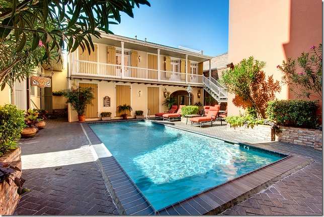 Dauphine Orleans Hotel Courtyard with Pool New Orleans Hotel Collection