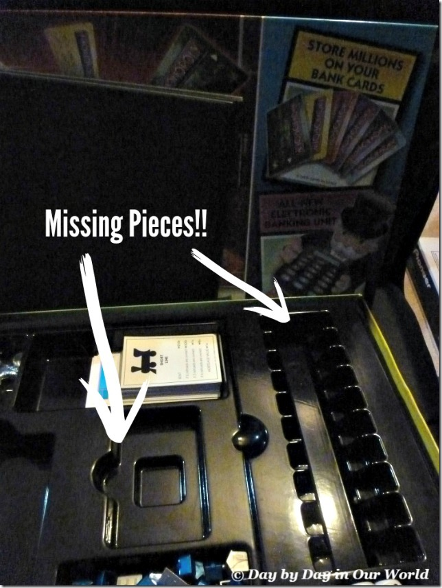 Missing Pieces to a Board Game is Common in Our House