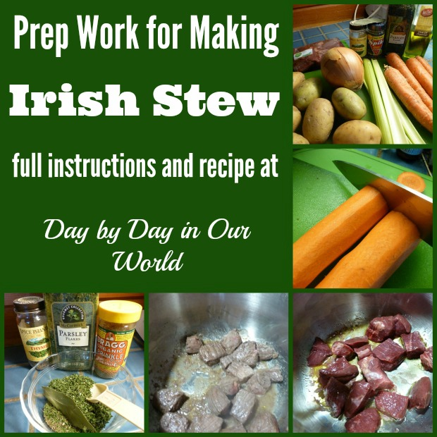 Prep Work for Irish Stew in the Pressure Cooker