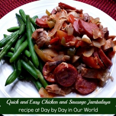 Quick and Easy Chicken and Sausage Jambalaya