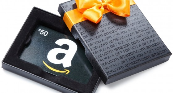 50 amazon gift card in box