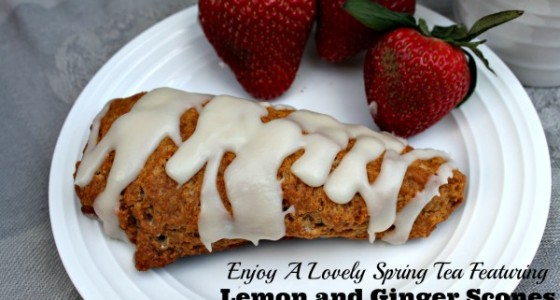 Enjoy a Lovely Spring Tea Featuring Lemon and Ginger Scones