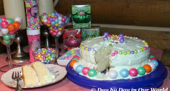 Spring Cake Made with Sweetworks Candies
