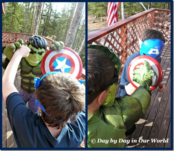 Battle Between Captain America and Hulk