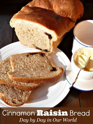 Homemade Cinnamon Raisin Bread tastes wonderful and is a healthy snack option.