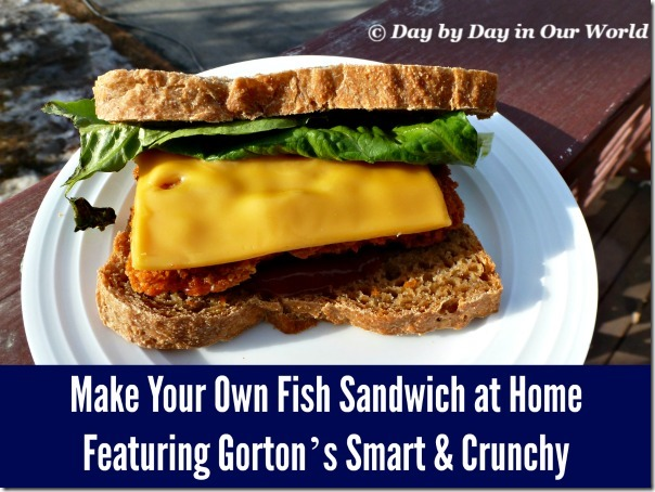 Healthier options with gorton s smart crunchy day by for Fish stick sandwich