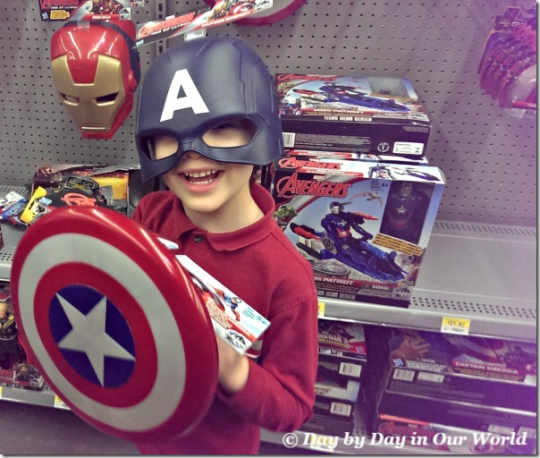 Modeling Captain America Mask and Shield at Walmart