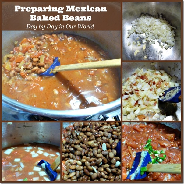 Preparing Mexican Baked Beans
