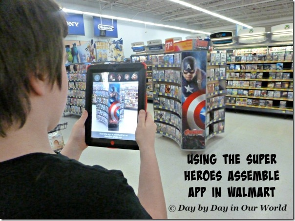 Using the Super Heroes Assemble app in WalMart