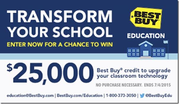 $25K Best Buy Education Giveaway