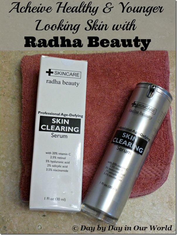 Learn how to get healthy and more youthful looking skin using the Skin Clearing Serum from Radha Beauty