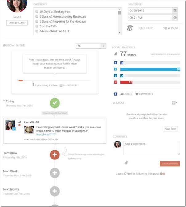 Managing Social Media Screen CoSchedule