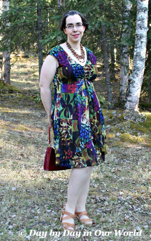 Monroe and Main Gorgeous Make It Mesh Floral Dress