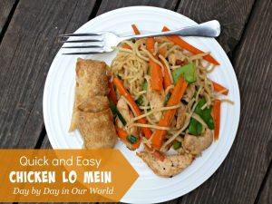 Quick and Easy Chicken Lo Mein
